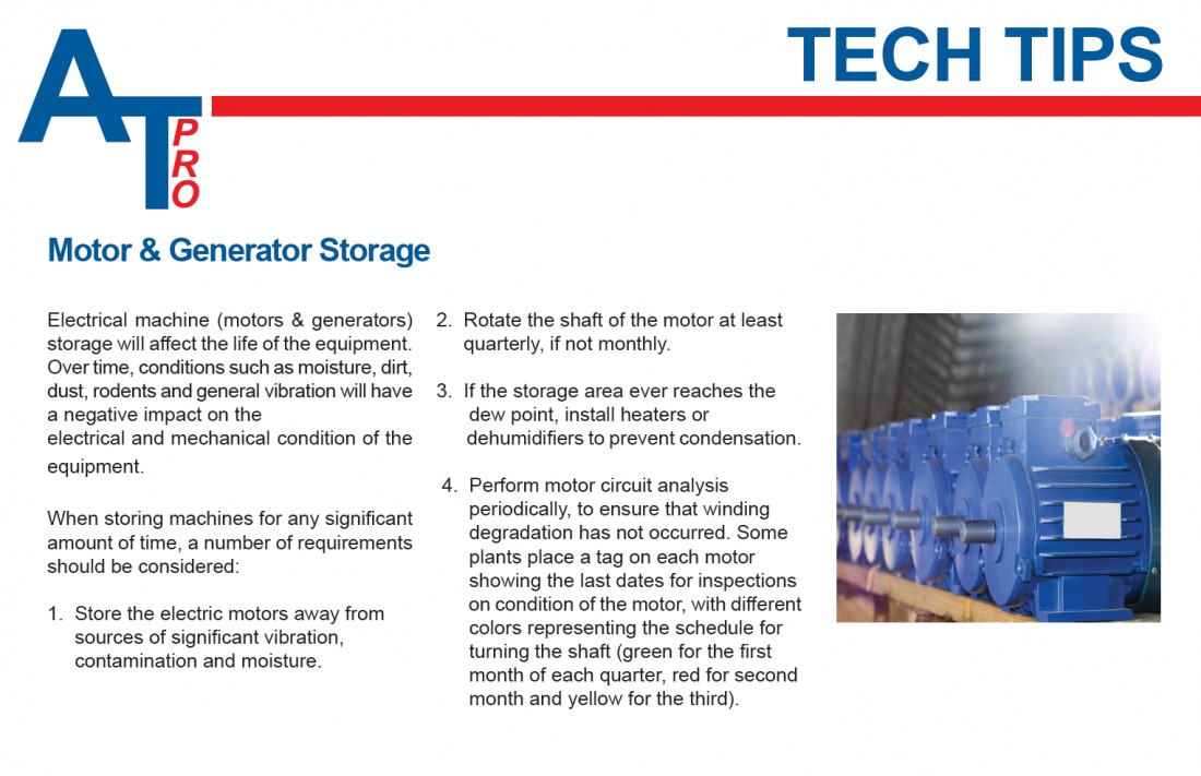 ALL-Test Pro - Tech Tip: Motor & Generator Storage - Blog & Latest News | JETT Pump & Valve - atp_tech_tip3