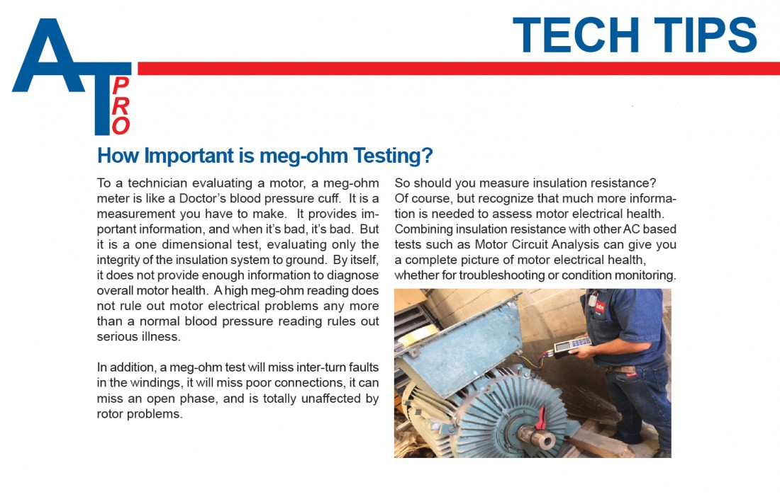 ALL-Test Pro - Tech Tip: How Important is meg-ohm Testing? - Blog & Latest News | JETT Pump & Valve - atp_tech_tip7